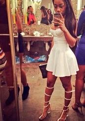 shoes,white,heels,dress