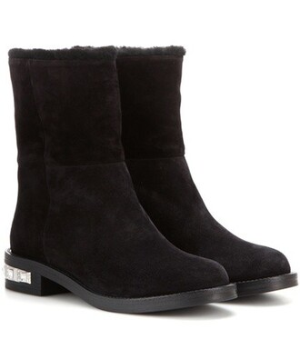 embellished boots suede boots suede black shoes