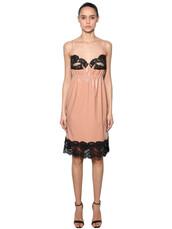 dress,lingerie dress,lace,nude,black