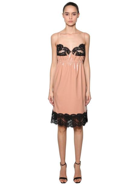 dress lingerie dress lace nude black