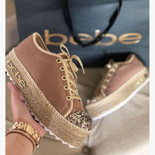 28d8284e013 shoes bebe sneakers platform shoes brown platform brown