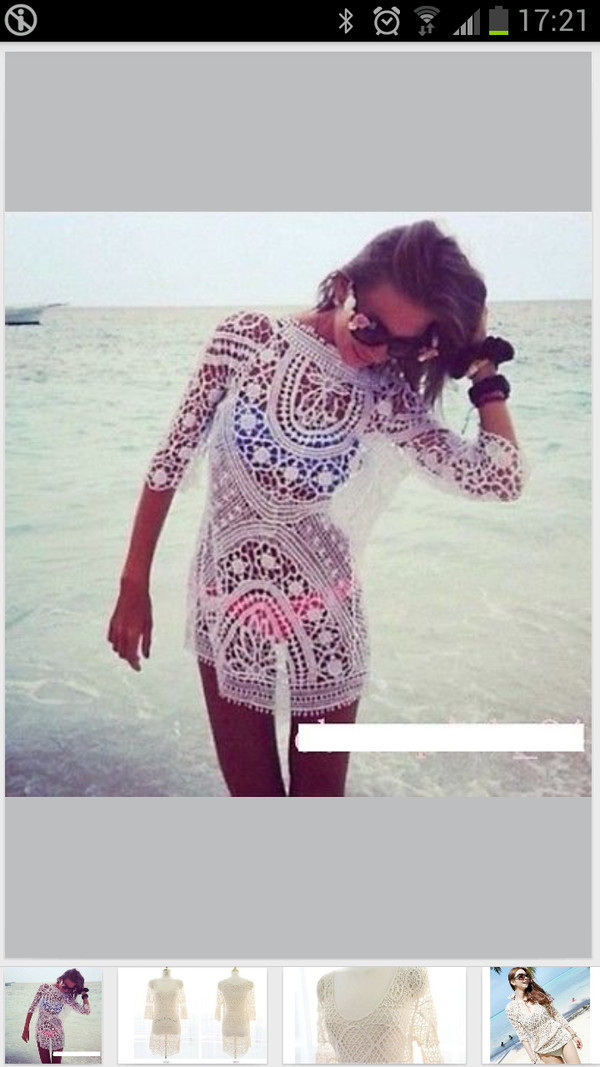 dress crochet tunic