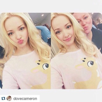sweater dove cameron jumper bambi pink disney disney sweater baby pink descendants liv and maddie