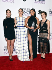 dress,slit dress,maxi dress,mesh,mini dress,bodycon dress,shay mitchell,lucy hale,ashley benson,troian bellisario,red carpet dress,red carpet,pretty little liars,people's choice awards,gown,prom dress