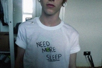 t-shirt sleep shirt white sad grunge soft grunge tumblr quote on it need more sleep