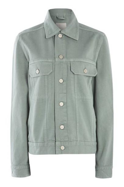 Topshop jacket denim jacket denim green
