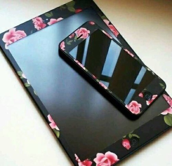 phone case iphone case black white fashion flowers iphone 5 case cute pink nice