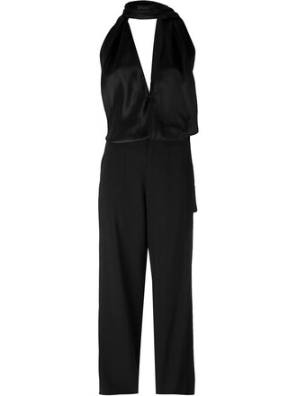 jumpsuit women black wool