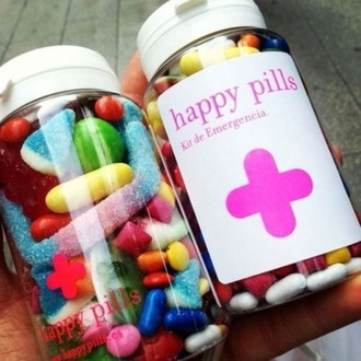 home accessory happy pills bonbon candy