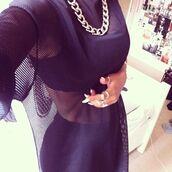 dress,mesh,net,mesh top,netted shirt,black t-shirt,see through,basketball t-shirt