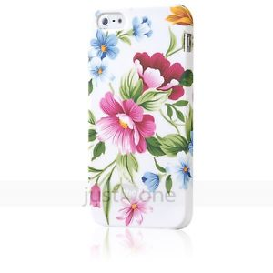 Floral Pattern Back Case Fitted Cover Skin Shell Protector for Apple iPhone 5 5g | eBay