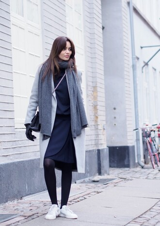 by funda blogger coat scarf skirt shoes bag