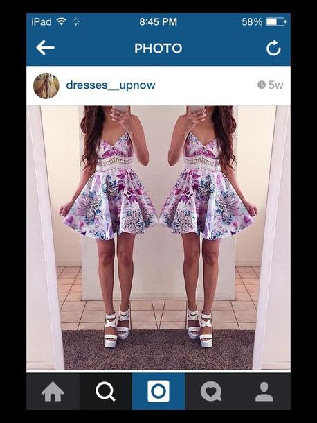 dress purple pink white blue