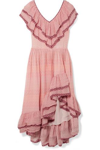dress silk pink