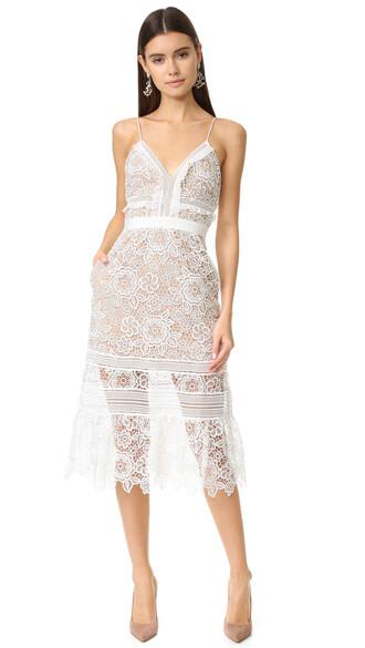 dress midi dress midi floral white blush