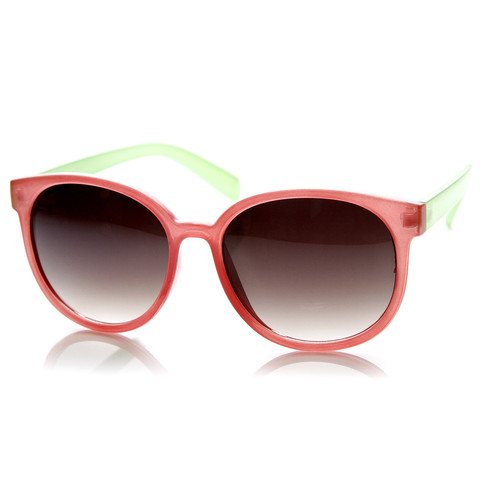 Summer Retro 2 Tone Colorful P3 Round Sunglasses 9103                           | zeroUV