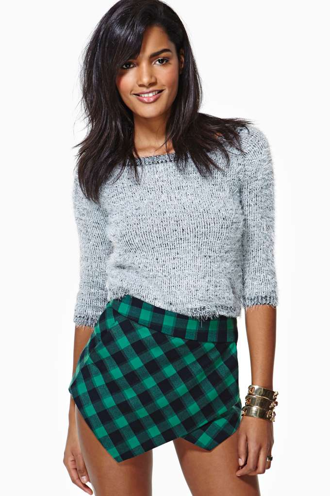 Courted Skort - Gingham | Shop Bottoms at Nasty Gal