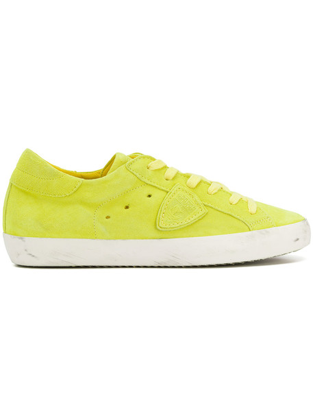 Philippe Model paris women sneakers leather suede yellow orange shoes