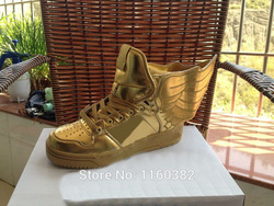 Online Shop NEWest sale ! JEREMY SCOTT 2014SS COLLECTION JS Wings Gold Shoes Men & Women Causal Shoes|Aliexpress Mobile