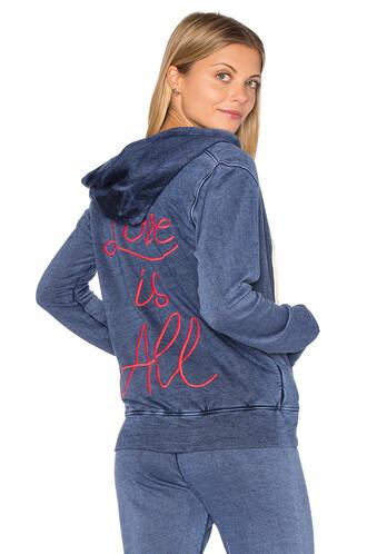 hoodie love light blue