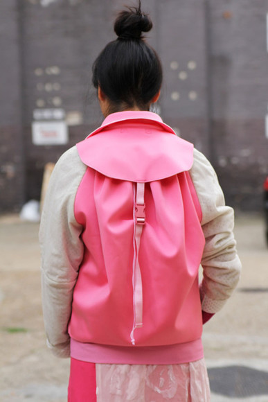 jacket pink jacket susie bubble susie lau style bubble backpack jacket backpack raglan