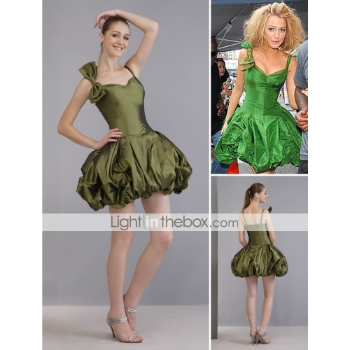 Cou court / mini cocktail en taffetas / / gossip girl robe de mode la saison 2 (fsh0008)