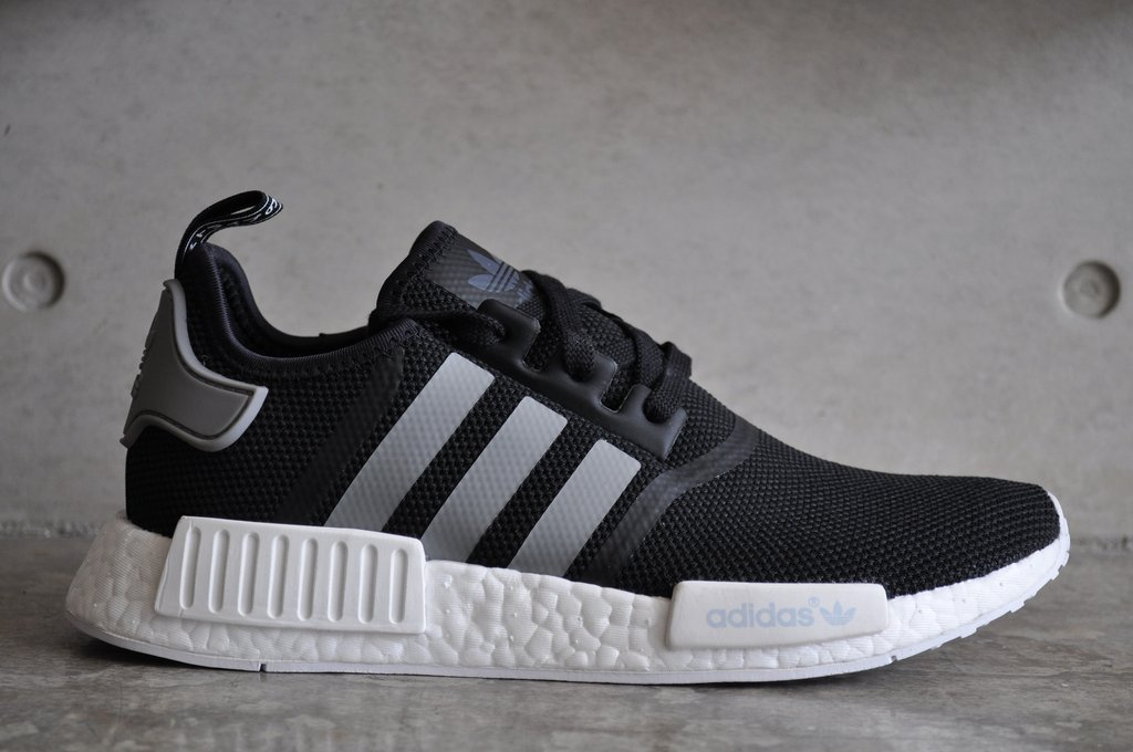online store 95a56 6d46f Adidas NMD R1 - Black/Grey/White – SneakerLtd
