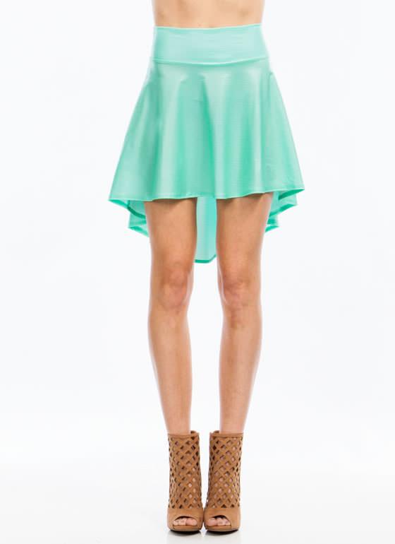 Hey slick high low skirt gojane.com