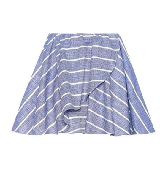 Caroline Constas Crossover Wave striped skirt in blue