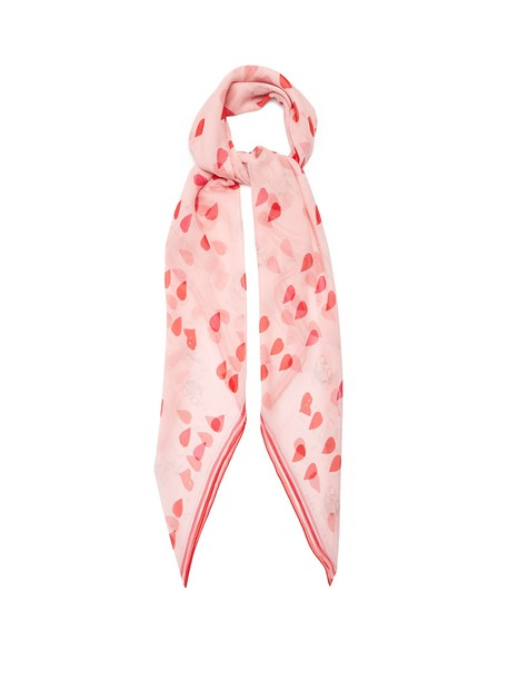 Alexander Mcqueen skull chiffon scarf print silk pink