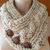 Chunky Knit Cable Scarf Cowl Knit Scarves Neck Warmer Creme