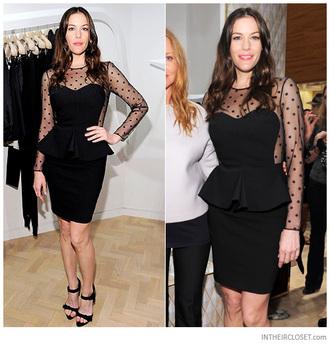dress minidress mini dress spotted spotty spotted dress spot spots little black dress black mini dress black