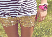 shorts,short,gold,shorty