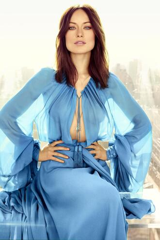 olivia wilde light blue flowy light
