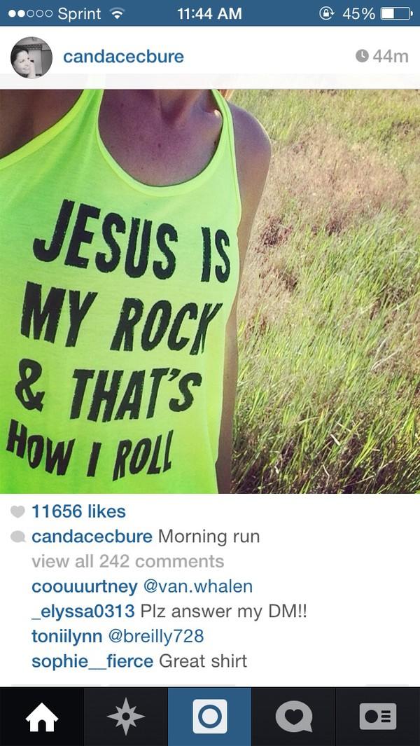 neon jesus workout shirt