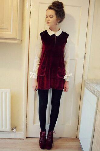 dress velvet romwe red dress lookbook