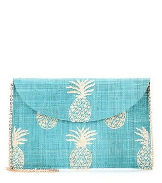 clutch turquoise bag