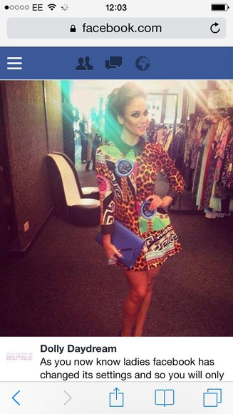 print versace dress collar towie glamour boutique girly