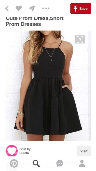 dress short prom dress black dress mini dress