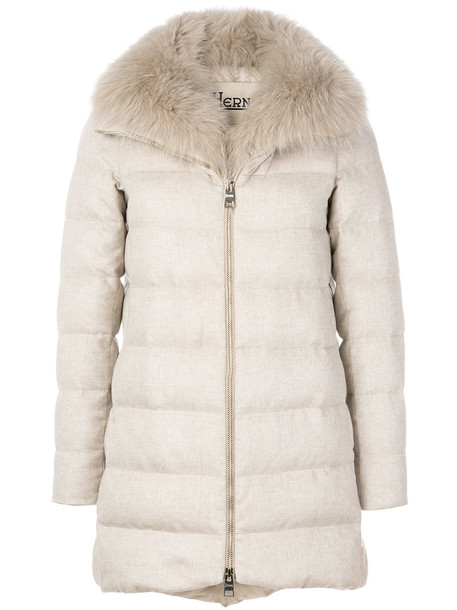 Herno jacket fur women nude silk