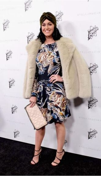 coat purse dress katy perry fur fur coat
