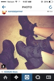 shoes,black boots,kendall jenner,kylie jenner,ankle boots,grunge,hipster