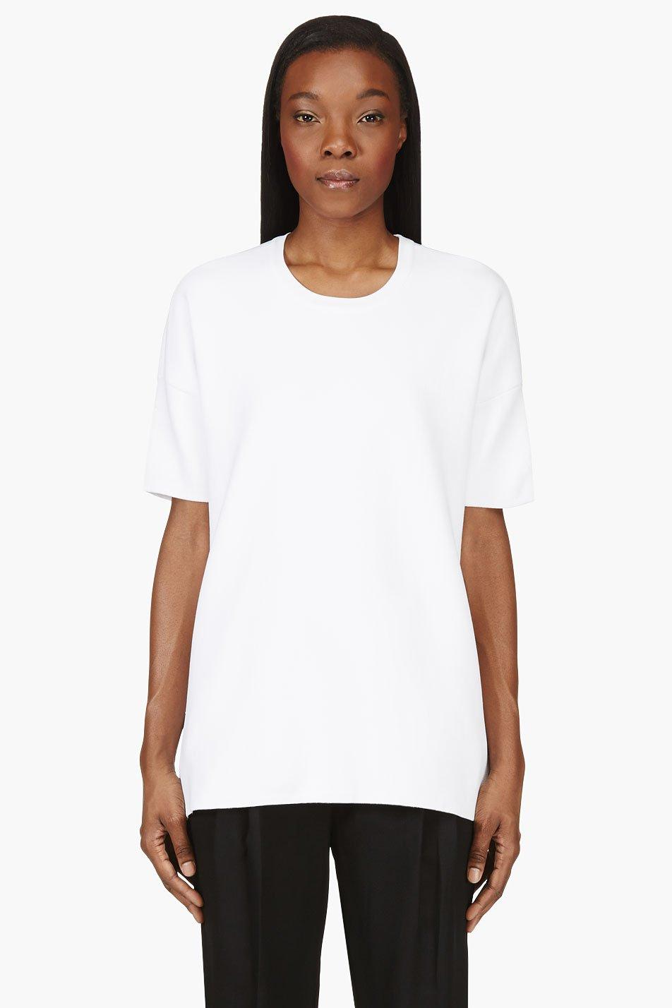 Rag and bone white oversize clara t shirt for Rag and bone white t shirt