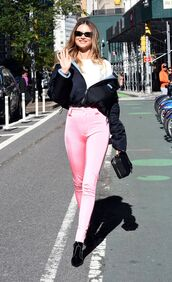 pants,behati prinsloo,model off-duty,streetstyle,jacket,fall outfits