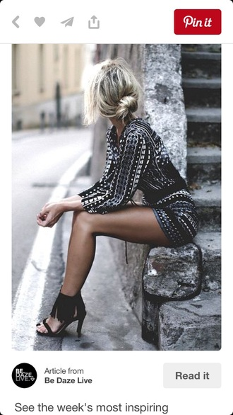 romper print pattern blue black jumpsuit summer short short jumpsuit small jumpsuit jumper black jumpsuit fashion dress black and white jumpsuit shoes fringes sandal heels blouse
