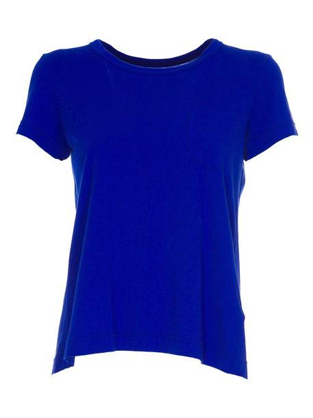 Sacai t-shirt shirt t-shirt back blue top