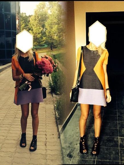 colorblock dress dress