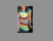 striped dress,dress