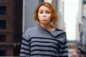 sweater,funny,stripes,miley cyrus,grey and black striped side button turtleneck.