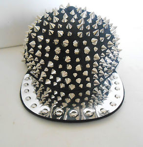 BRAND NEW MEN & LADEIS SILVER STUDDED CAP SPIKE HIP HOP HAT SNAPBACK PUNK ROCK | eBay